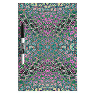 Multicolored Hologram Butterfly Fractal Abstract Dry Erase Board