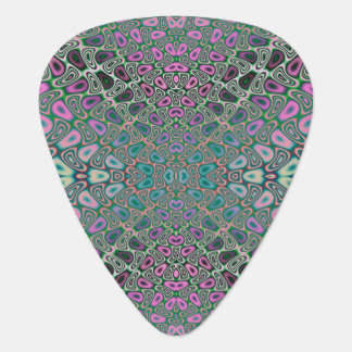 Multicolored Hologram Butterfly Fractal Abstract Guitar Pick