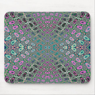 Multicolored Hologram Butterfly Fractal Abstract Mouse Pad