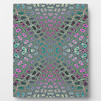 Multicolored Hologram Butterfly Fractal Abstract Plaque
