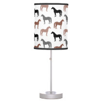 Multicolored Horses Pattern Desk Lamp