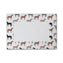 Multicolored Horses Pattern Post-it Notes