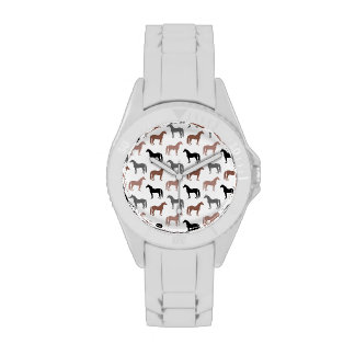 Multicolored Horses Pattern Watches