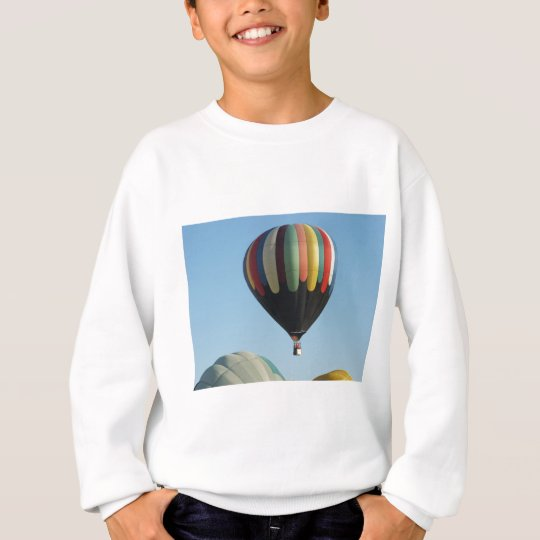 Multicolored hot air balloons sweatshirt