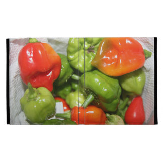 Multicolored hot pepper pile image iPad cases