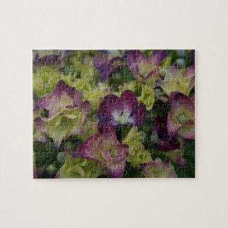 Multicolored Hydrangea Flowers Jigsaw Puzzle