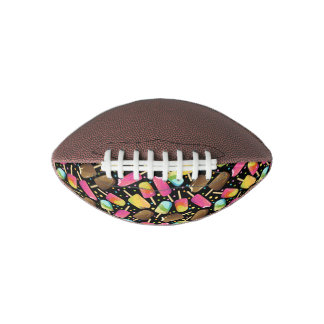 Multicolored ice cream popsicles sprinkles pattern football