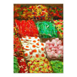 Multicolored-jellies-on-shelfs COLORFUL GUMMY CAND 5x7 Paper Invitation Card