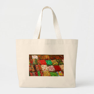 Multicolored-jellies-on-shelfs COLORFUL GUMMY CAND Tote Bag