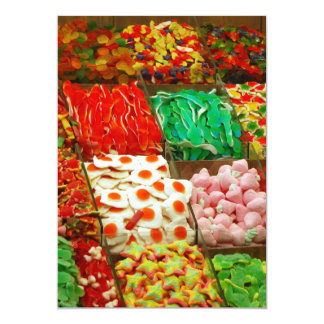 Multicolored-jellies-on-shelfs COLORFUL GUMMY CAND Card
