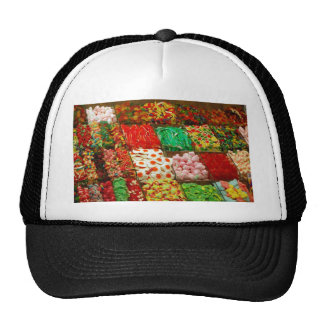 Multicolored-jellies-on-shelfs COLORFUL GUMMY CAND Mesh Hats