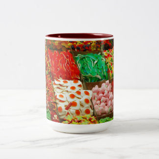 Multicolored-jellies-on-shelfs COLORFUL GUMMY CAND Coffee Mugs