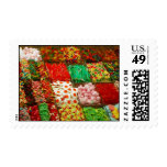 Multicolored-jellies-on-shelfs COLORFUL GUMMY CAND Postage Stamps