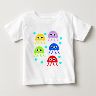 Multicolored jellyfishes tee shirt