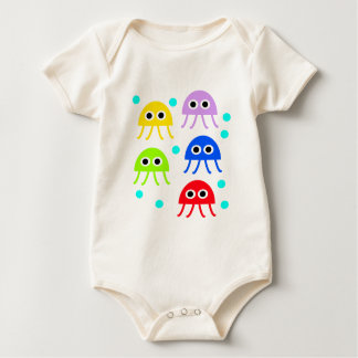 Multicolored jellyfishes bodysuits
