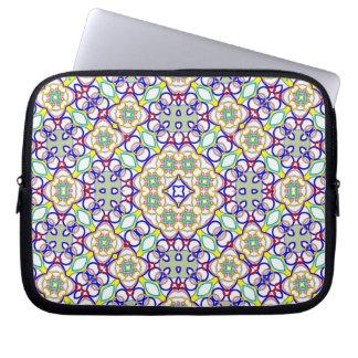 Multicolored Kaleidoscope Pattern Computer Sleeve