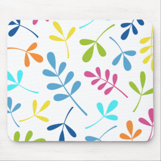 Multicolored Large Assorted Leaves Design Mouse Pad