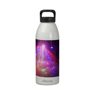 multicolored lasers fog lights foam fun drinking bottle