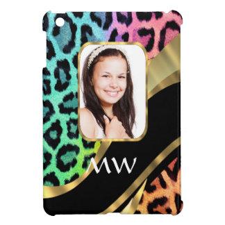 Multicolored leopard print case for the iPad mini
