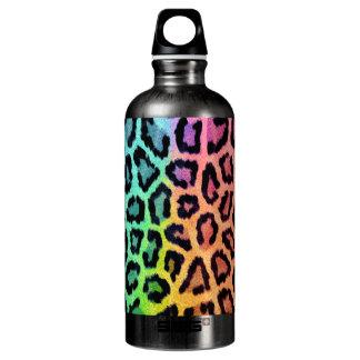 Multicolored Leopard Water Bottle