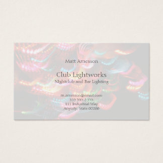 Multicolored lights business card