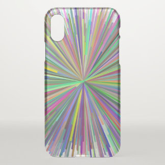 Multicolored Line Burst Pattern Phone Case