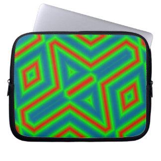 Multicolored Line Pattern Laptop Sleeve