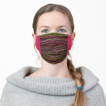Multicolored lines cloth face mask