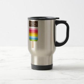 Multicolored Lolly Pop Icecream Travel Mug