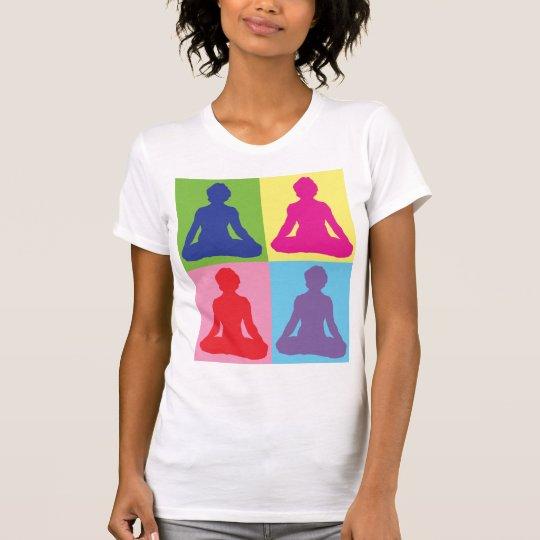 Multicolored Lotus Pose Yoga T-Shirt