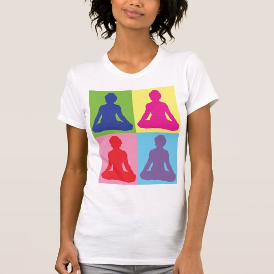 Multicolored Lotus Pose Yoga T-Shirt