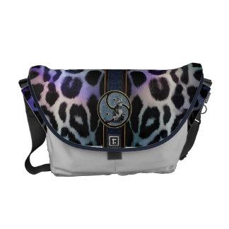 Multicolored Magic Symbolic Leopard Courier Bag