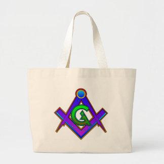 Multicolored Masonic Square & Compass Bags