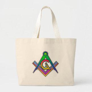 Multicolored Masonic Square & Compass Tote Bag