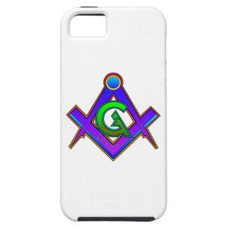 Multicolored Masonic Square & Compass iPhone 5 Cases
