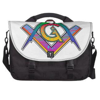 Multicolored Masonic Square & Compass Commuter Bag
