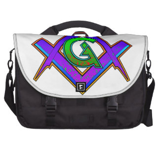 Multicolored Masonic Square & Compass Bags For Laptop
