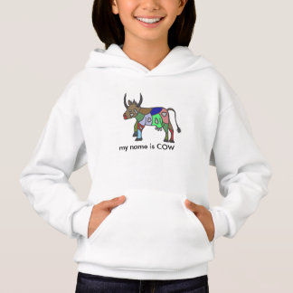 multicolored merry cow hoodie