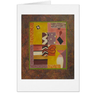 Multicolored modern abstract art card