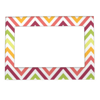 Multicolored Modern Chevron Magnetic Frame