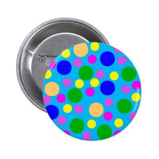 Multicolored Modern Dots blue cyan pink purple Button