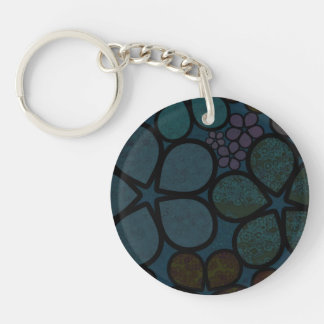 Multicolored, Modern, Textured Floral Keyring