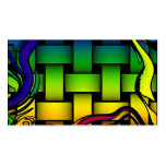 Multicolored modern woven pattern business card