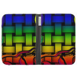 Multicolored modern woven pattern case for kindle