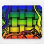 Multicolored modern woven pattern mouse pad