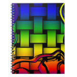Multicolored modern woven pattern note book