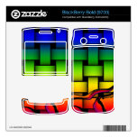 Multicolored modern woven pattern decal for BlackBerry