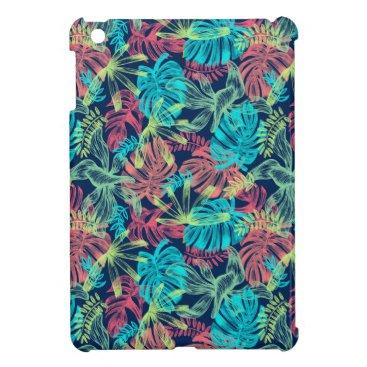 Multicolored Monstera of sheets Case For The iPad Mini
