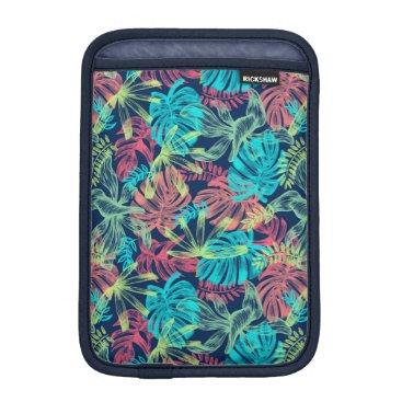 Multicolored Monstera of sheets iPad Mini Sleeve