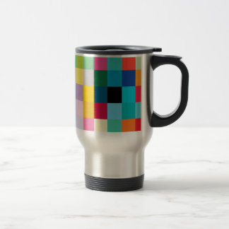 Multicolored 15 Oz Stainless Steel Travel Mug